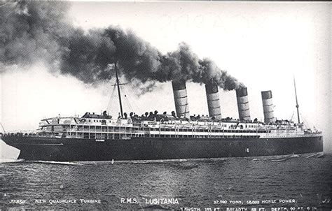 rms lusitania sinking postcards of the past vintage postcards of liners