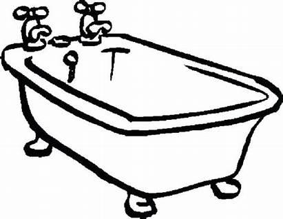 Bathtub Coloring Drawing Tub Bath Clawfoot Printable
