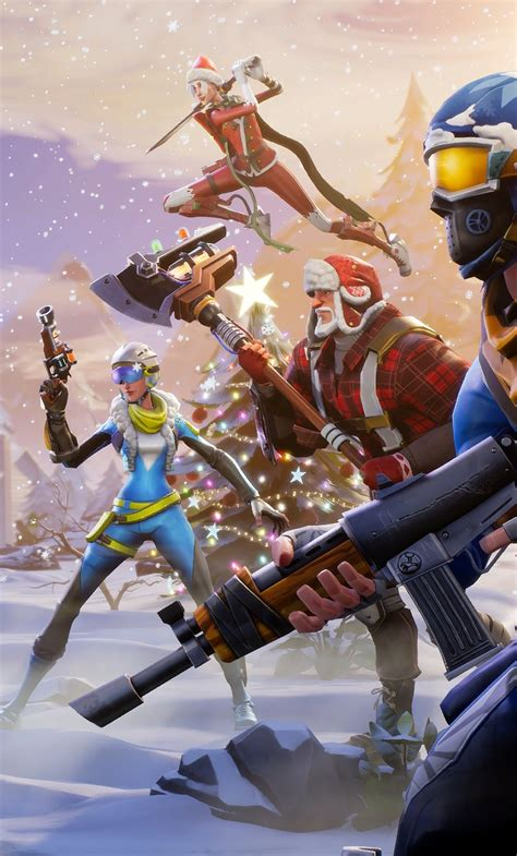1280x2120 Fortnite Winter Season Iphone 6+ Hd 4k
