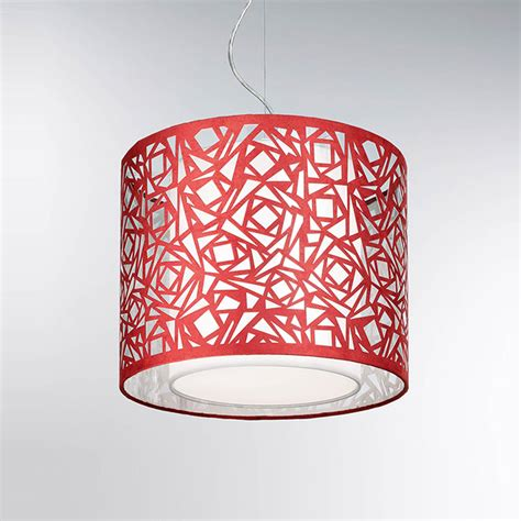 franklite pch104 abstract 1 light red laser cut pendant