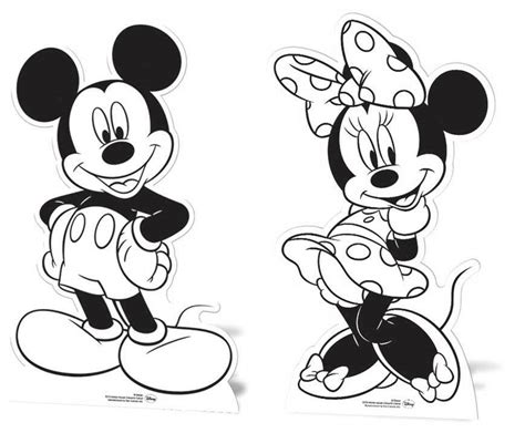 mickey mouse minnie mouse cardboard cutouts paint