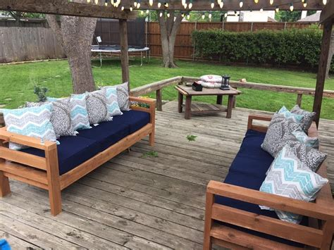 ana white outdoor  sofas diy projects diy outdoor