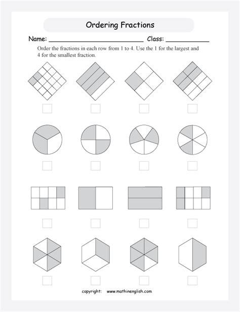 Ordering Fraction Worksheet  Fraction Worksheetsordering Fractions And Decimals Worksheet Tes