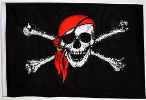 PIRATE WITH BANDANA - SMALL BUDGET FLAG 9 X 6