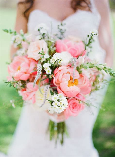 prettiest peony wedding bouquets