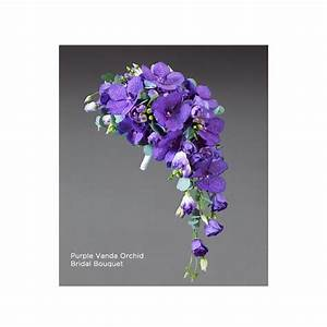 Purple Vanda Orchid Bridal Bouquet - Aberdeen Flowers