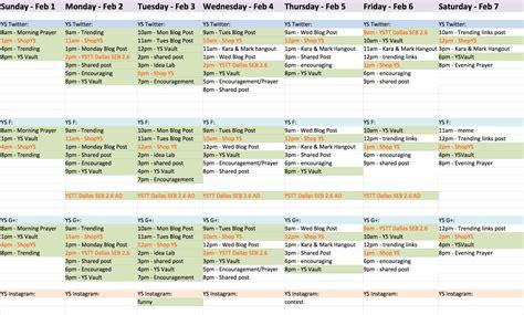 Social Media Calendar Template Social Media Content Calendar Template Docs 2018