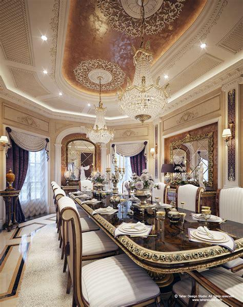 "Luxury Mansion Interior "" Qatar ""  Dining In 2019"