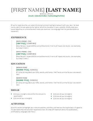 Chronological Resume Overlapping Dates by Chronological Resume Modern Design Resume Template
