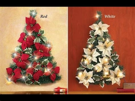 how to make a christmas yard poinsettia lighted review led lighted poinsettia tree wall decoration