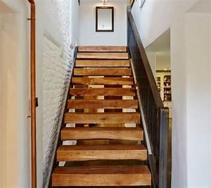 Renover Un Escalier En Bois : repeindre escalier en bois deco maison moderne ~ Premium-room.com Idées de Décoration