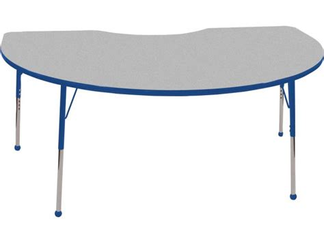 kidney table for classroom ecr4kids adjustable kidney shaped classroom table 48 quot x72