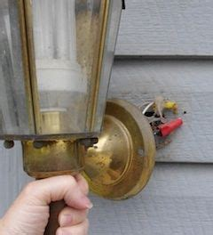 how to install a sconce outdoors
