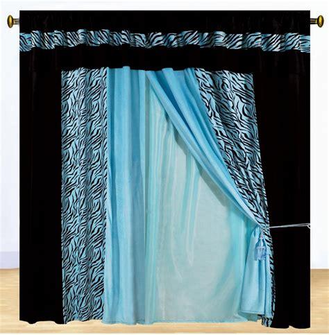 new luxury safarina drapes blue black zebra animal valance
