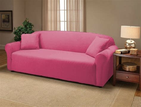 Slipcover Sofa Furniture by Pink Jersey Sofa Stretch Slipcover Cover Furniture