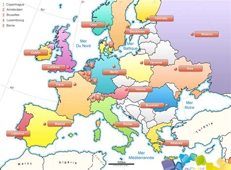 Carte Capitales Europe Vierge by Carte Europe Images Et Photos Arts Et Voyages