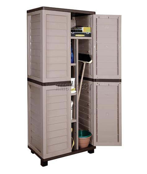 plastic storage cabinet starplast outdoor plastic garden utility cabinet with