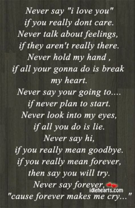 U Never Cared Me Quotes