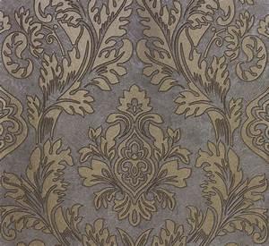 Glasfaser Tapeten Muster : vliestapete grau gold barock marburg 56801 ~ Markanthonyermac.com Haus und Dekorationen