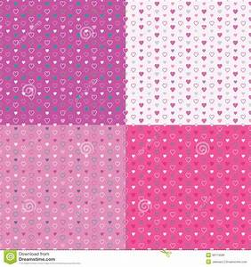 Colorful Hearts Background Collection Stock Photos - Image ...