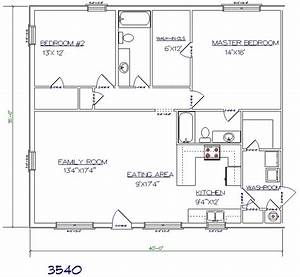 wdmb images floorplans 3540c joy studio design gallery With 30x40 metal building homes plans