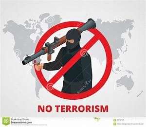No Terrorism. Stop Terror Sign Anti Terrorism Campaign ...
