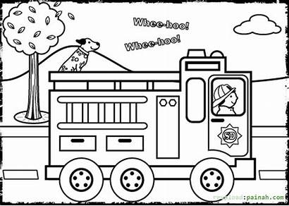 Safety Coloring Pages Fire Prevention Sheets Truck