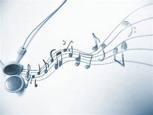 Music - an art for itself - Headphones and music notes / m ...
