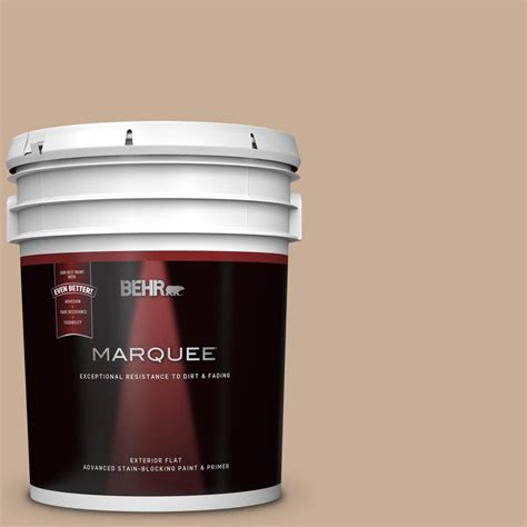 behr marquee 5 gal 280e 3 toasted wheat flat exterior paint and primer in one 445405 the