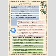 Articles  Interactive Worksheet