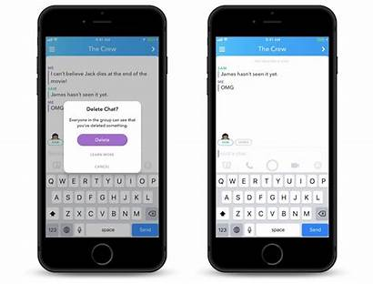 Snapchat Delete Messages Message Sent Clear Chats