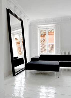 extra large  sized floor  wall matt black framed