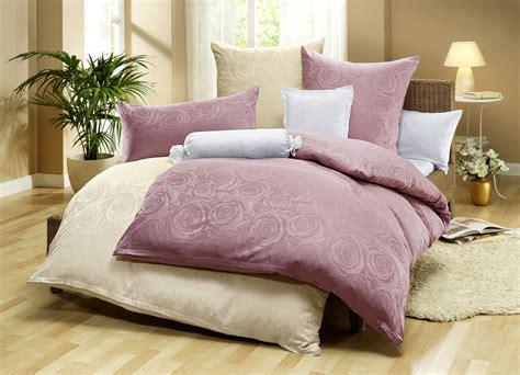 dormisette bettwaesche garnitur mit rosen motiv