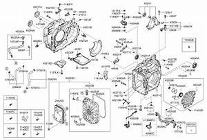2012 Kia Optima Hybrid Auto Transmission Case