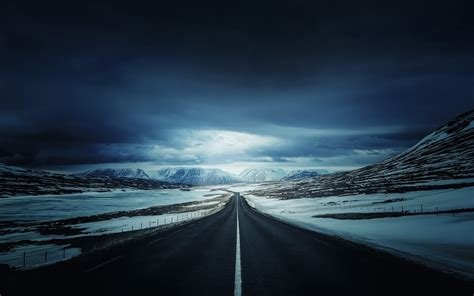 Iceland Landscape Clouds Ring Road Mountain Wallpapers