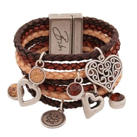 bibi bijoux Womens Multiple Brown Leather Strap Bracelet
