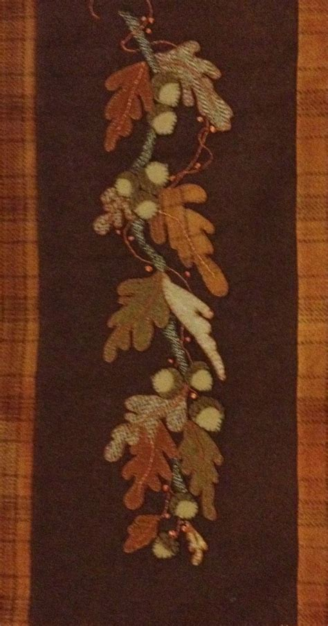 felt applique patterns wool applique oak leaves by louise jalowiec of