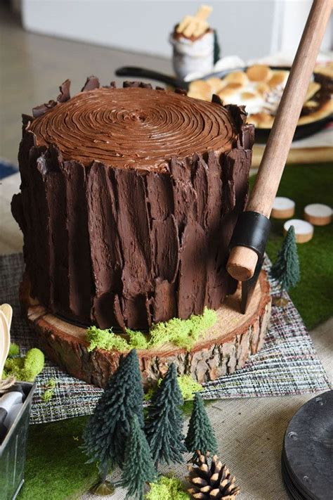 log cake ideas  pinterest lumberjack cake