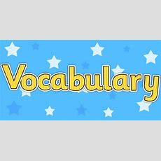 Vocabulary Display Lettering Yellow  Ks1 Resource Twinkl