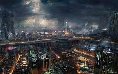 Future Wallpapers Night Futuristic Cityscape Cities Background