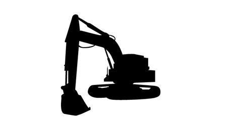 backhoe silhouette  getdrawings