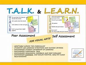 T A L K And L E A R N  Peer And Self Assessment Guide For