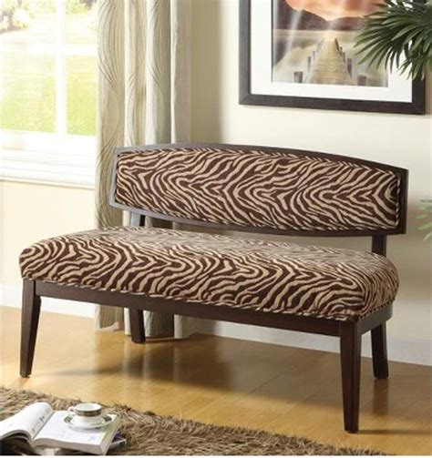 Animal Print Benches by Complete Your Safari Themed Home Decor With Animal Print