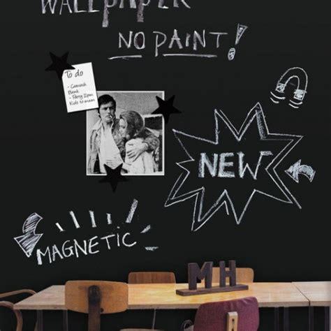 magnet cuisine papier peint magnétique tableau noir noir 61x265cm