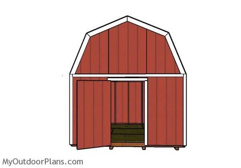 Gambrel Shed Plans 12x12 by 12x12 Barn Shed Door Plans Myoutdoorplans Free