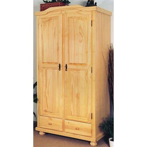 armoire chambre 2 portes armoire pin massif 2 portes meran achat vente