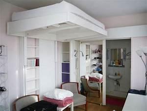 Lit Au Plafond Electrique : lit suspendu plafond electrique ~ Premium-room.com Idées de Décoration