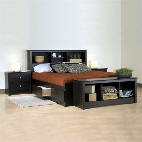 prepac bedroom furniture sets prepac sonoma black platform storage bed 3