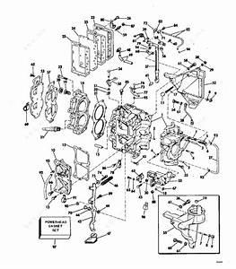 Evinrude 1977 25 - 25703h  Cylinder  U0026 Crankcase