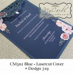 navy blue blush pink flowers wedding invitation design 729 With wedding invitations printing auckland